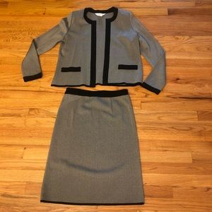 Exclusively misook small blazer skirt knit suit